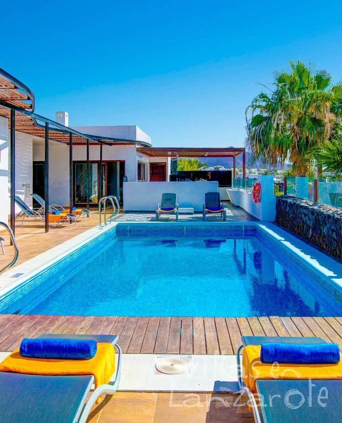 Alquiler Villa Corito, Villas en Lanzarote - Piscina