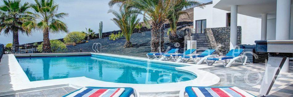 Alquiler Villa Rodea, Lanzarote - Terraza y piscina
