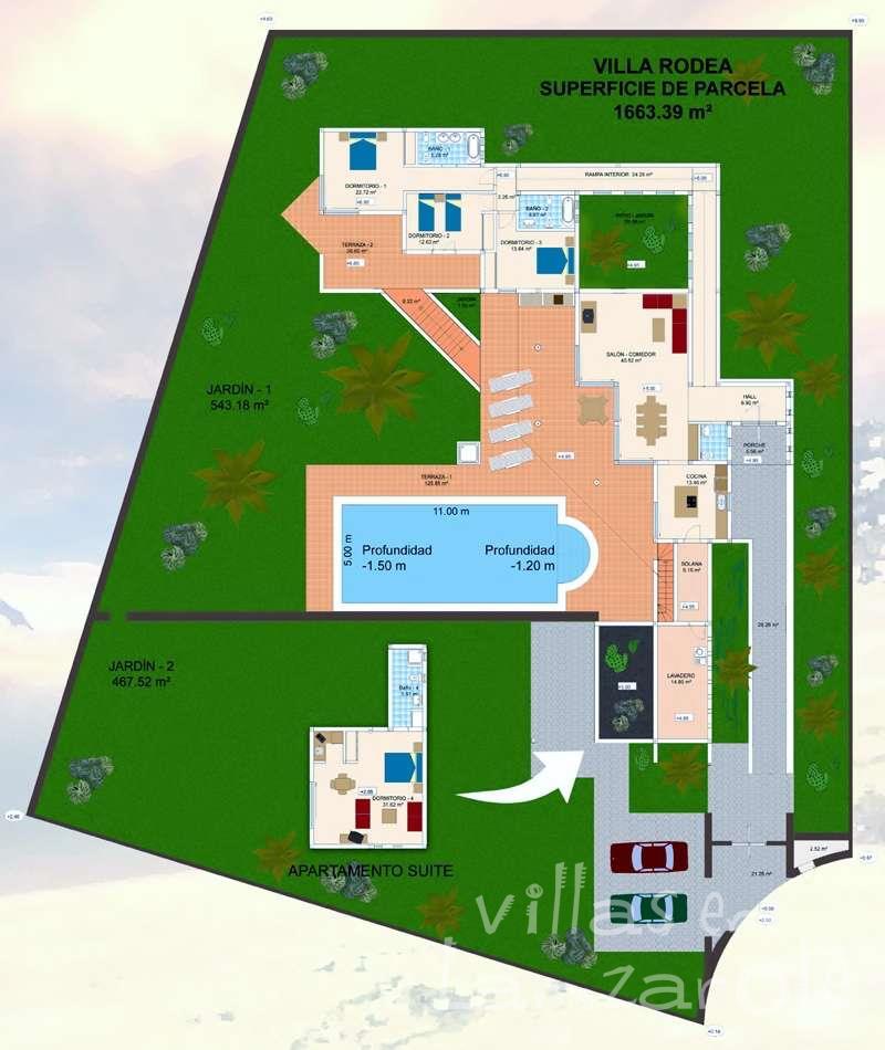 Plano Villa Rodea