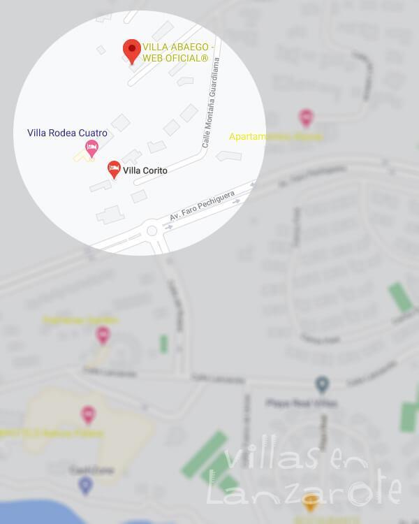 Mapa de Localización de Villas en Lanzarote